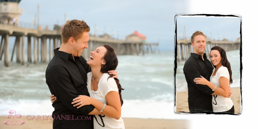 Huntington Beach engagement photo