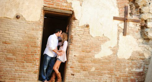 Mission San Juan Capistrano engagement session