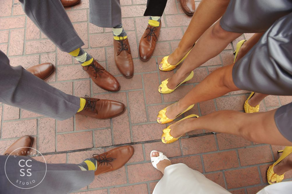 yellow bridesmaids shoes