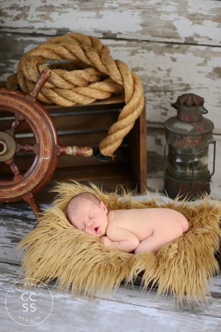 nautical theme newborn photo