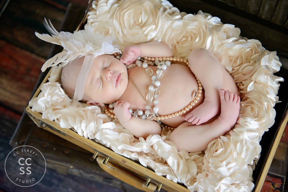vintage newborn photo