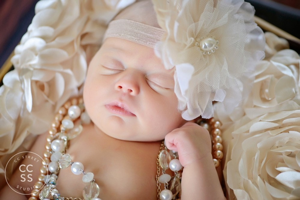 vintage theme newborn photography
