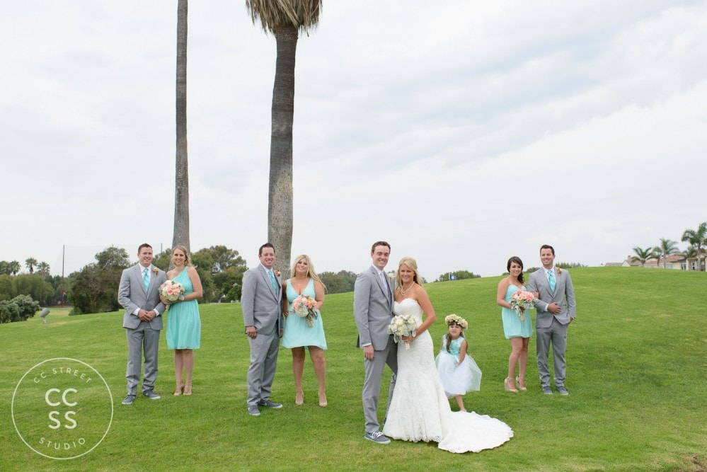 golf course bridal party photos