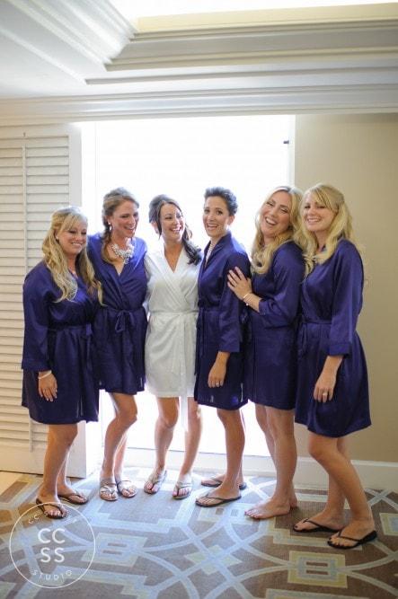 purple bridesmaids robes