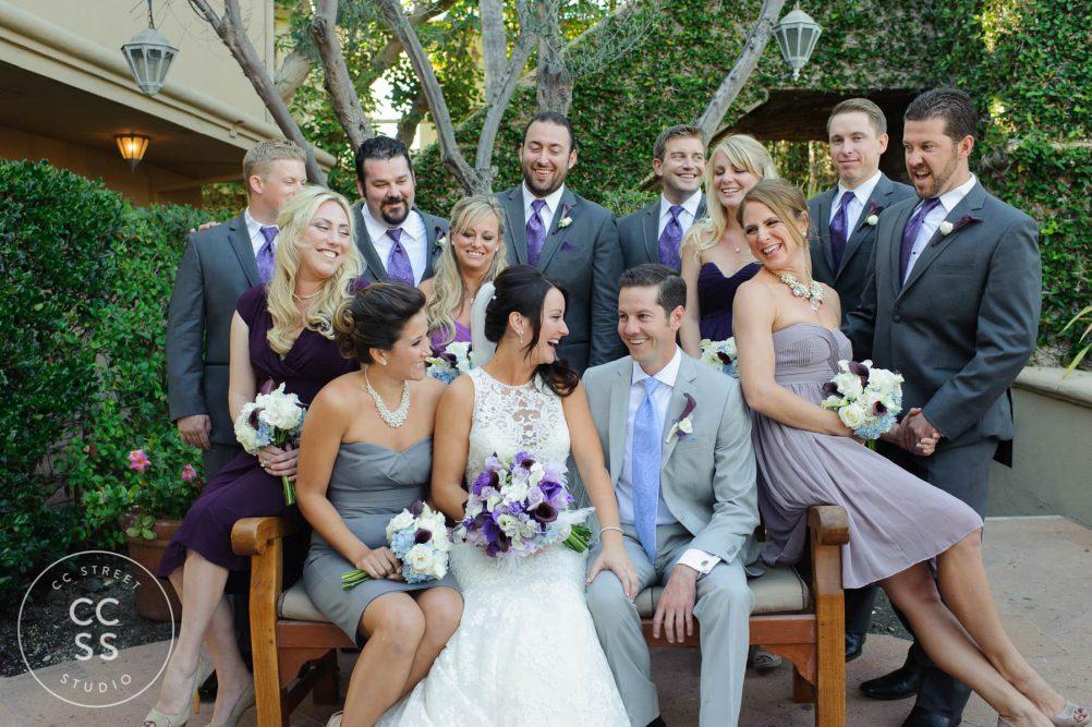 fun wedding party photos