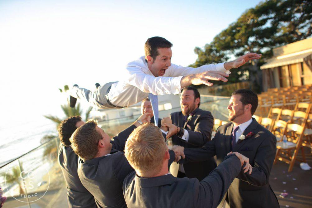 creative groom photos