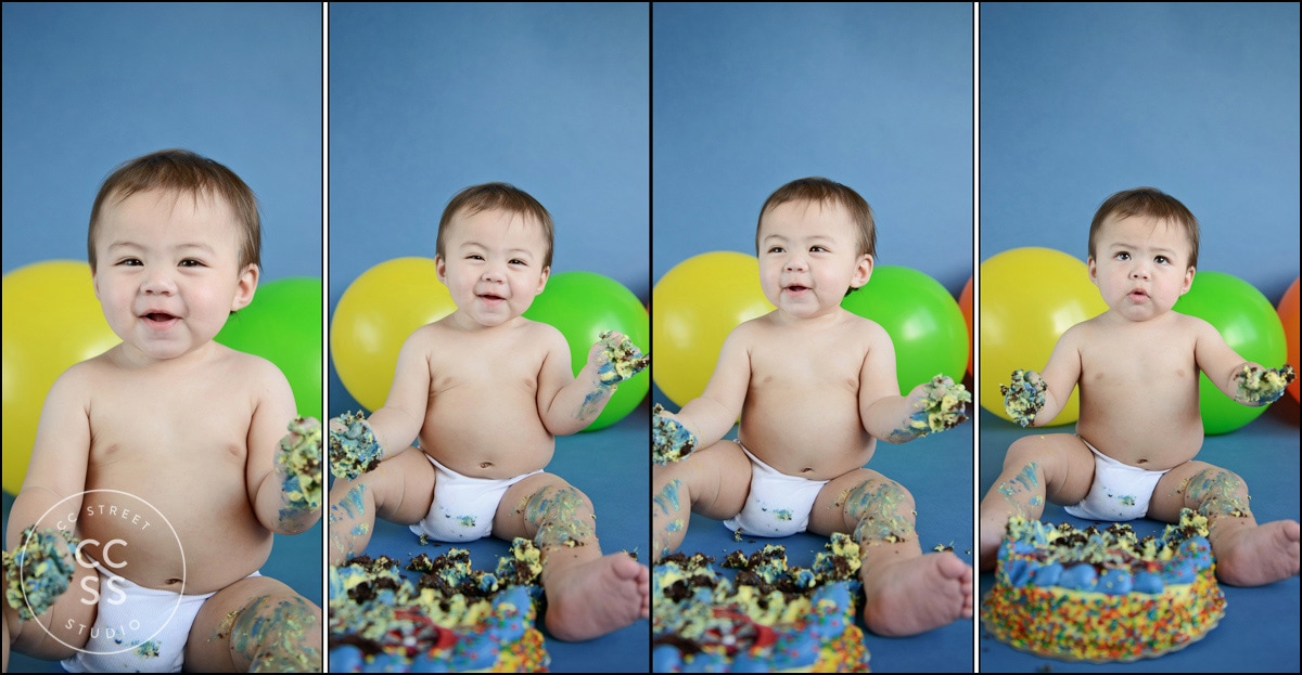 1 year old cake smash pictures Costa Mesa