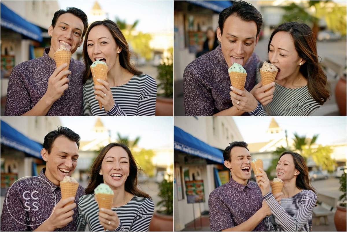 engagement pictures with ice cream