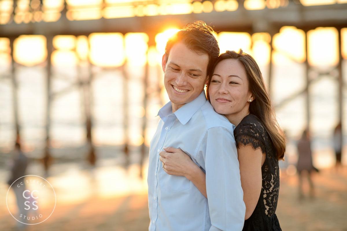 balboa pier engagement photos