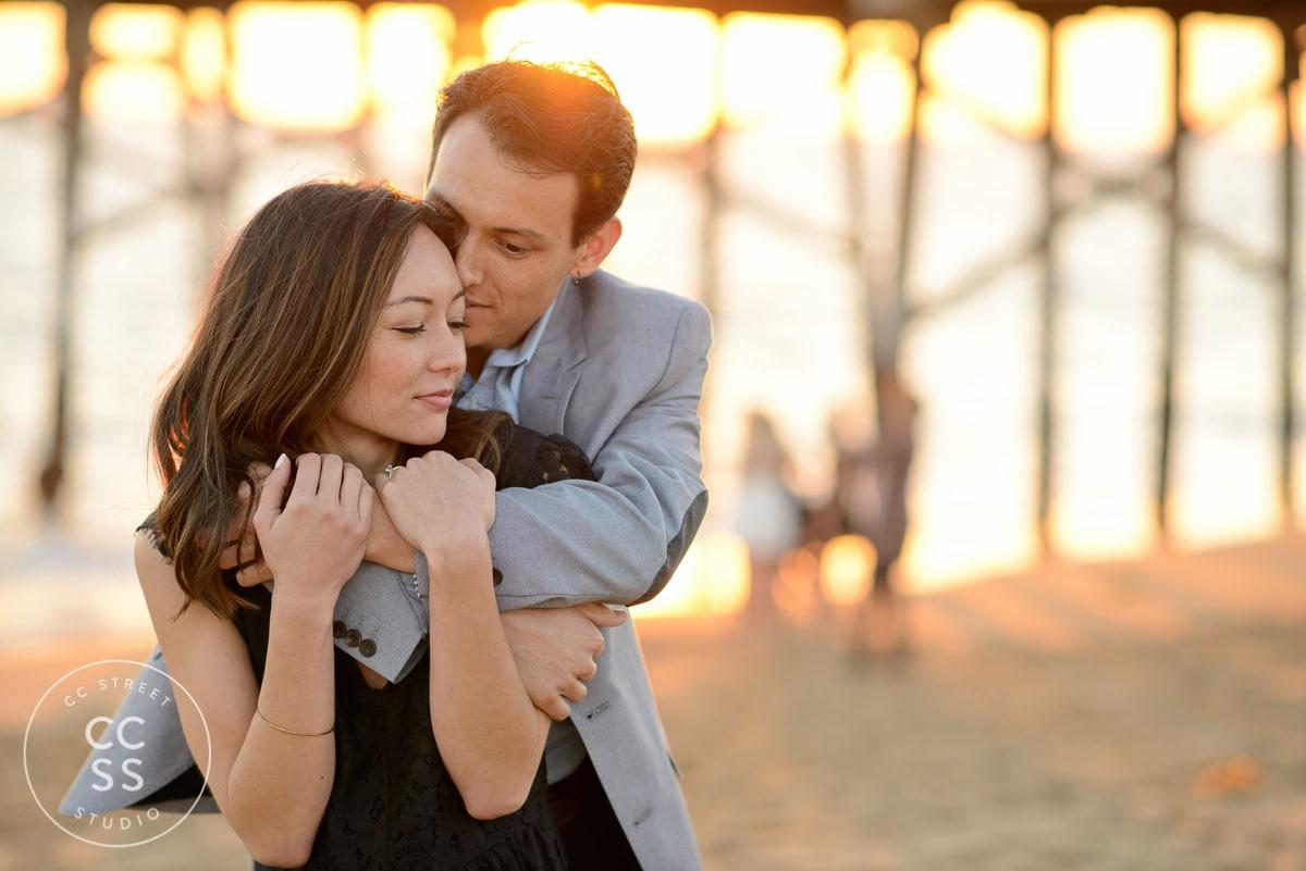 balboa pier engagement photography