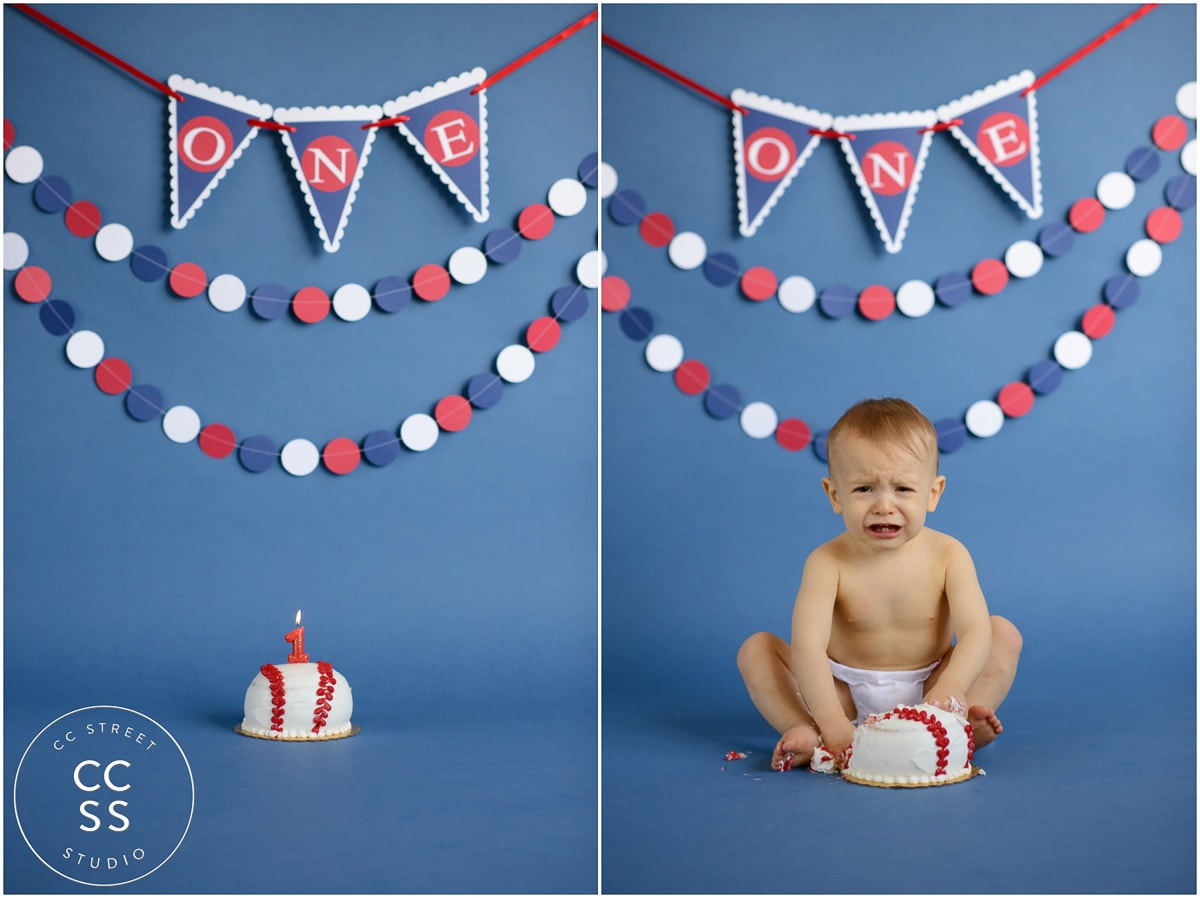 1 Year Old Cake Smash Photos Fountain Valley Baby Photographer