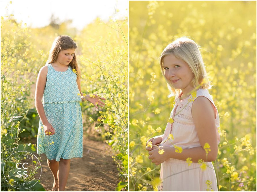 flower field photo session
