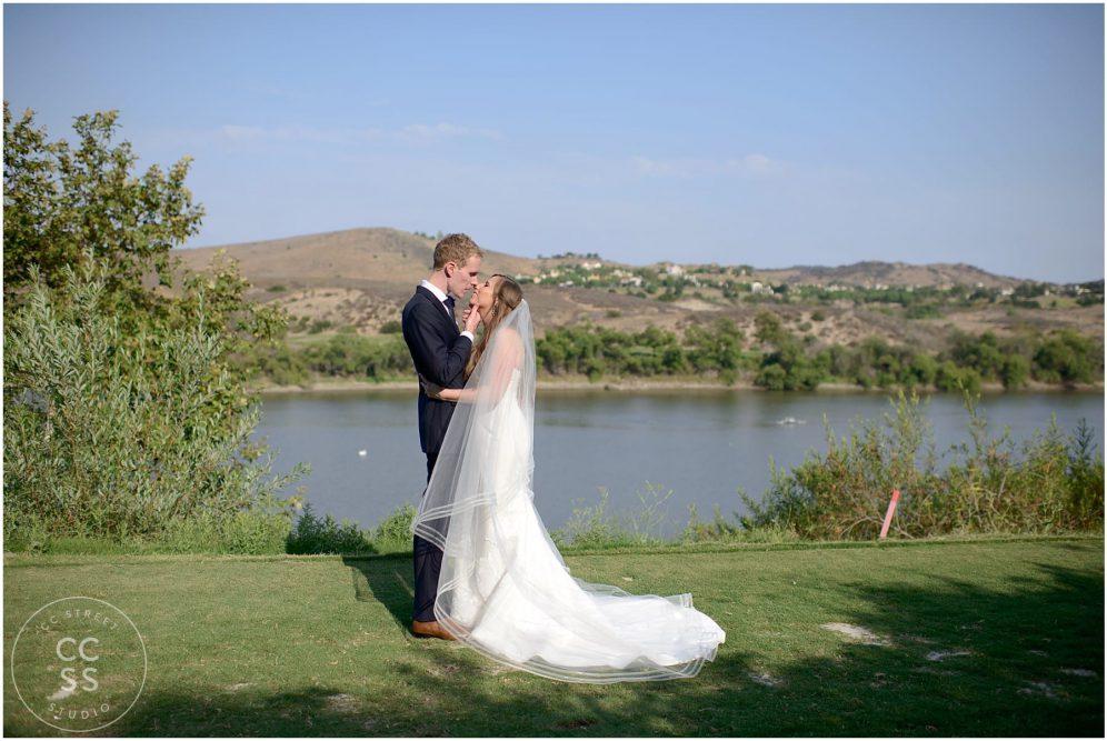 golf course wedding photo